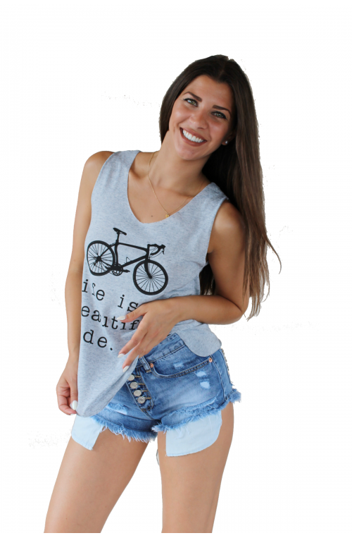 Μπλουζάκι Αμάνηκο με τύπωμα