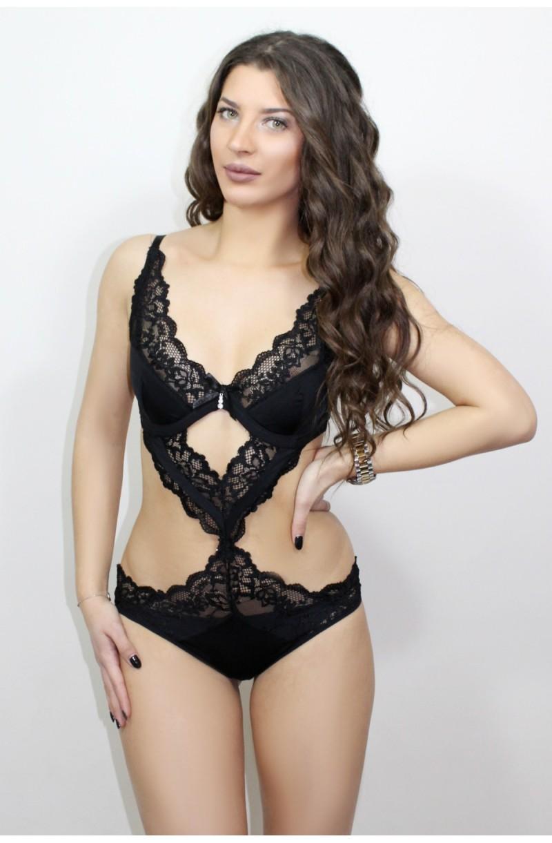 γυναικείο εσώρουχο κορμάκι με μαύρη σέξι δαντέλα 82307fe7e37