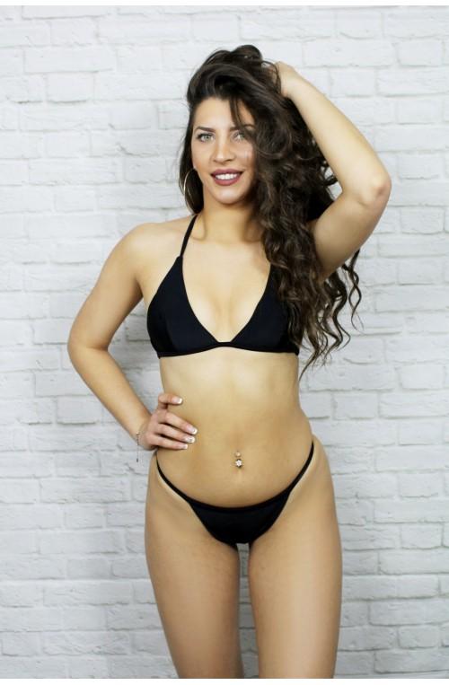 sexy γυναικείο μαύρο μαγιό μπικίνι τριγωνάκι