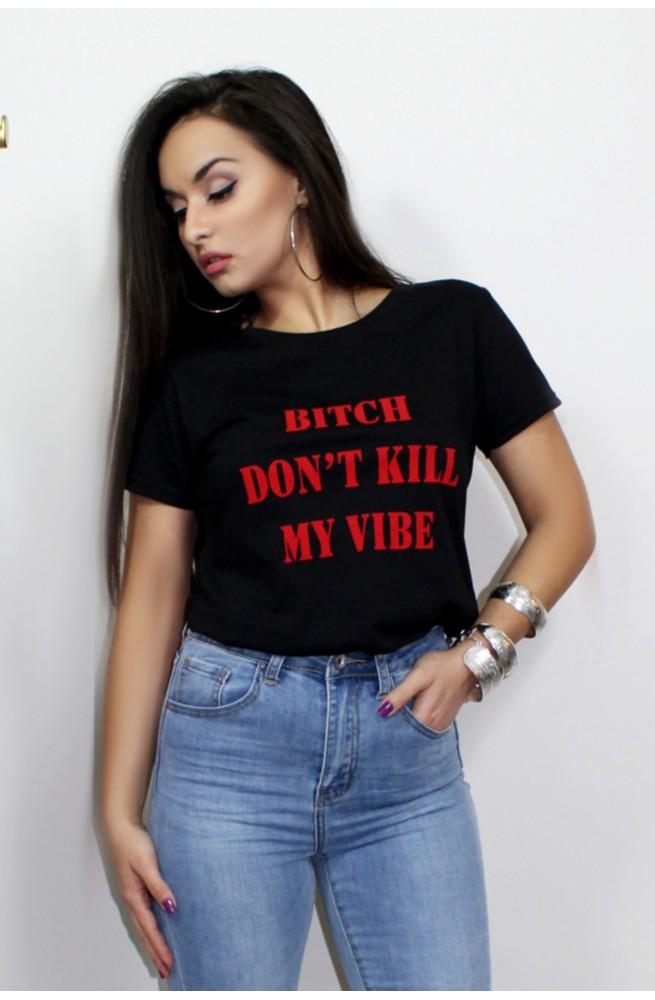 κοντομάνικο μπλουζάκι μαύρο
