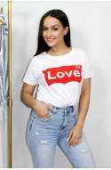 """Λευκό t-shirt """" love """""""