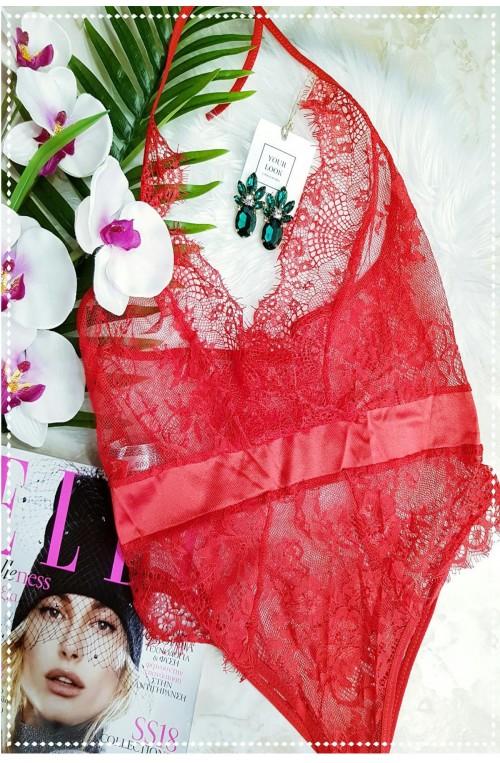 sexy σετ εσώρουχα κόκκινα