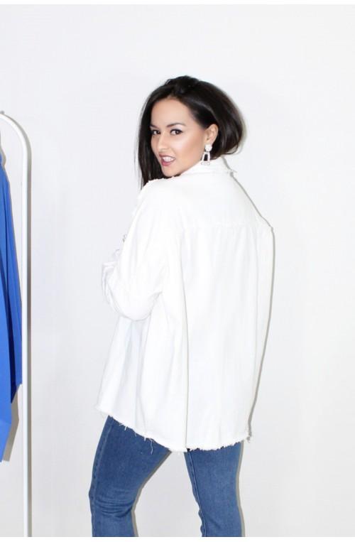 jaen jacket λευκό με πέρλες