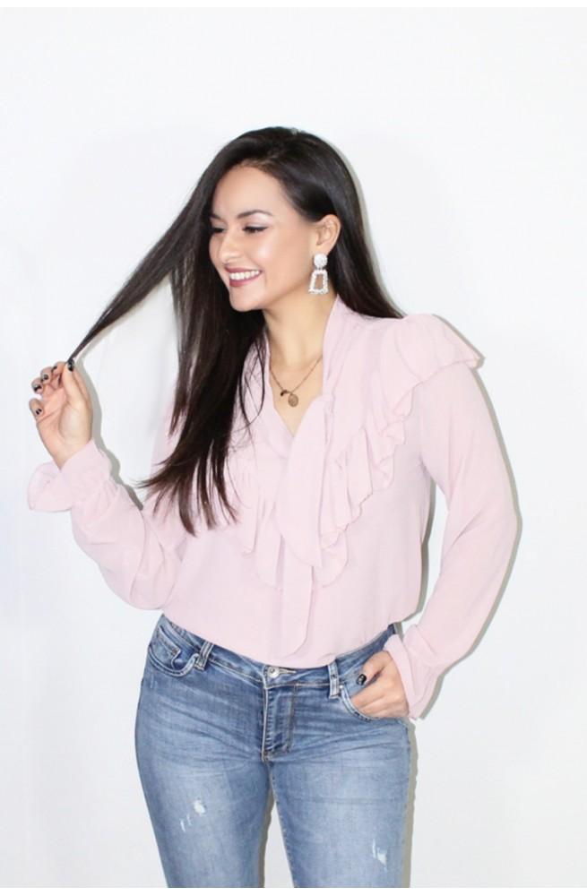 πουκάμισο ροζ με φαρμπαλά