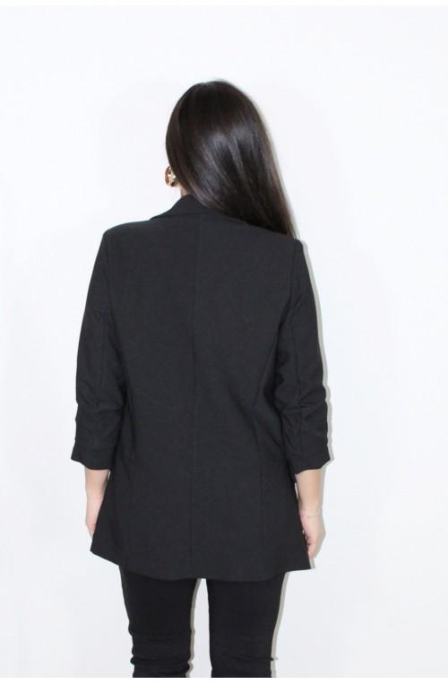 σακάκι μπλέιζερ μαύρο χωρίς κούμπωμα