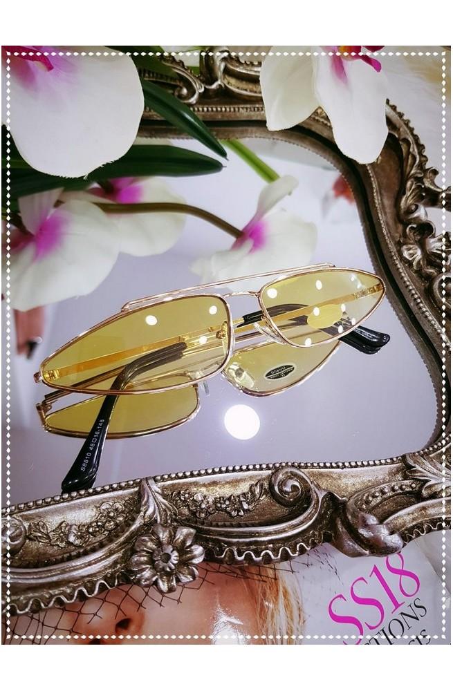 γυαλιά ηλίου κίτρινα οβάλ 2019