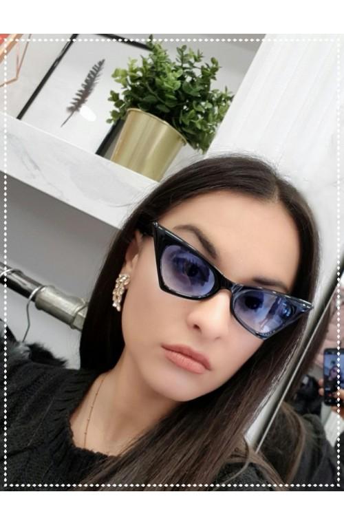 γυαλιά ηλίου μαύρο μπλε πεταλούδα