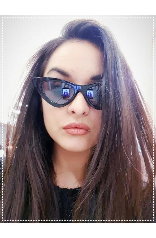 γυαλιά ηλίου cat eye μαύρα