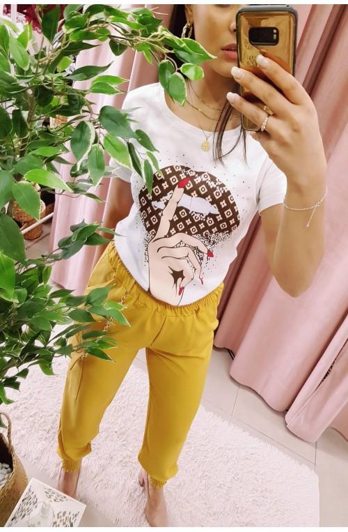Γυναικείο κοντομάνικο άσπρο t-shirt μπλουζάκι LV