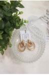 Γυναικεία σκουλαρίκια χρυσά κόμποι μεγάλα