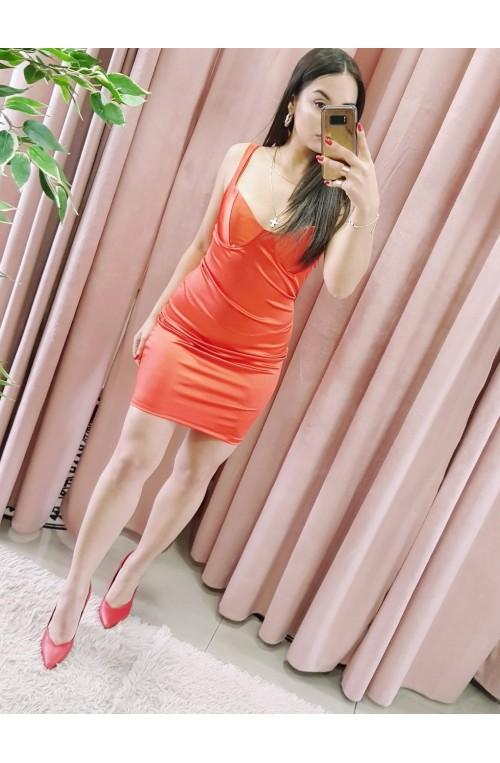 φόρεμα μίνι σατέν