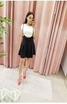 σαλοπέτα φούστα μαύρη με άσπρο t-shirt