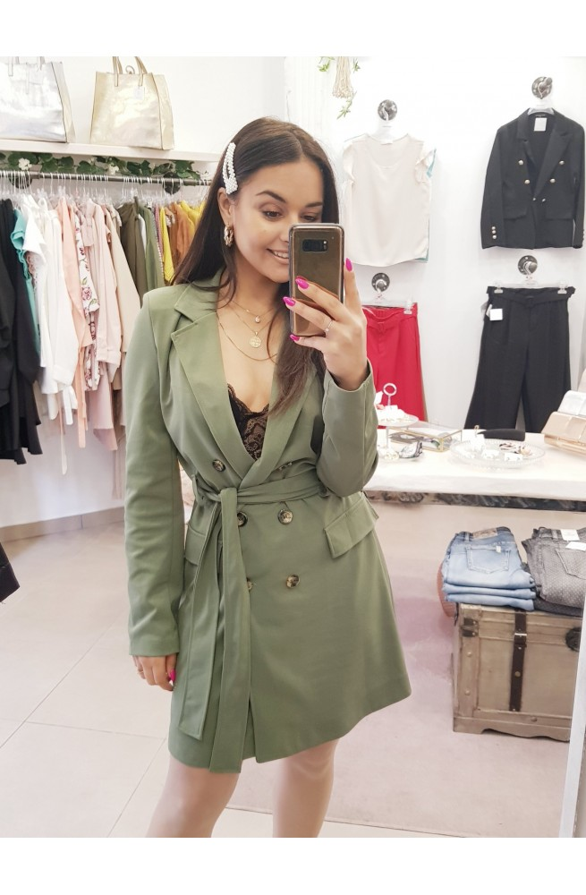 Blazer φόρεμα με ζώνη