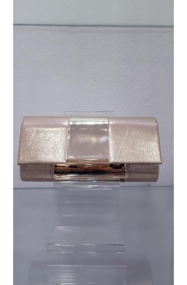 τσάντα χειρός μεταλλική με αλυσίδα