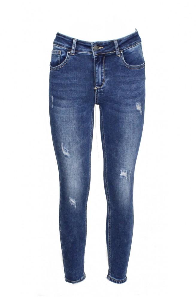 γυναικείο ψηλόμεσο τζιν παντελόνι με τεχνολογία push up στους γλουτούς