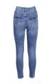 Ψηλομεσα ελαστικα τζιν παντελονια σωληνας με σκισιματα, φθηνά, μπλε