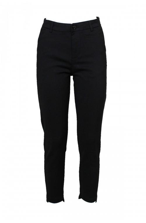 υφασμάτινο μαύρο παντελόνι ψηλόμεσο