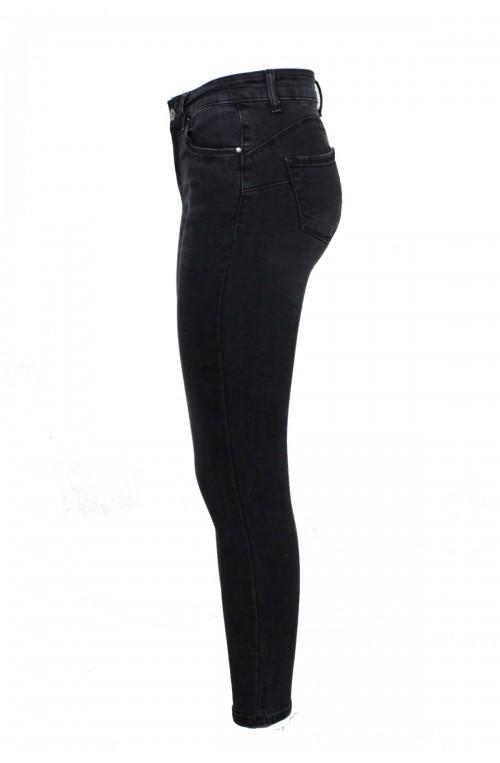 Push up γυναικεία ψηλόμεσα τζιν ελαστικά skinny μαύρα παντελόνια
