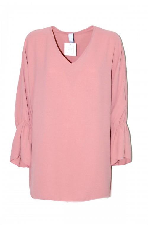μπλούζα oversize plush size ροζ