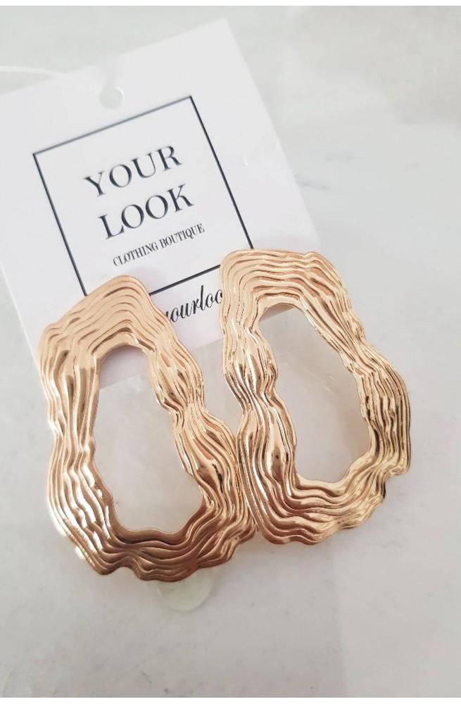 σκουλαρίκια χρυσό ύφαλος