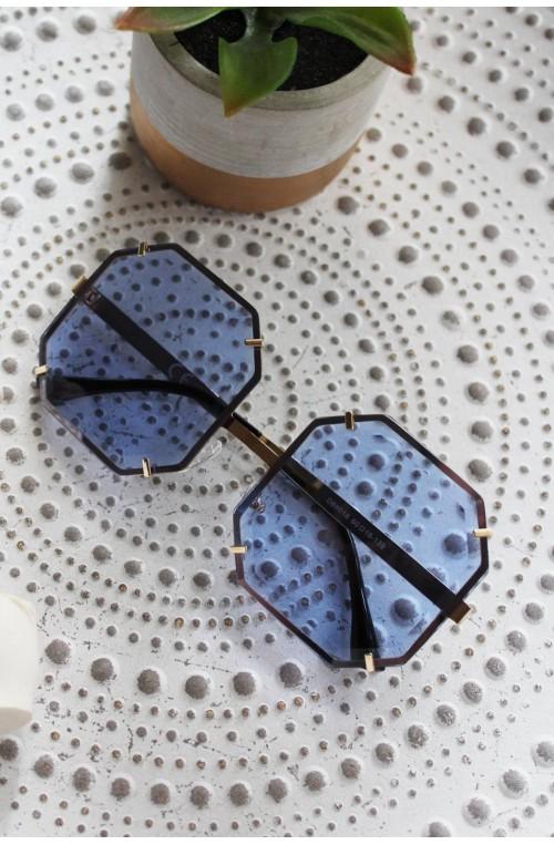 γυαλιά ηλίου μπλε τετράγωνα μεγάλα