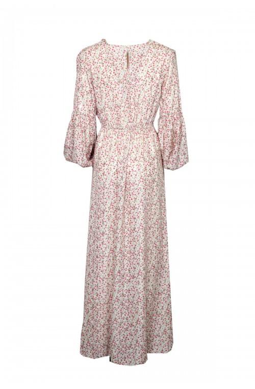 φόρεμα floral maxi μπεζ
