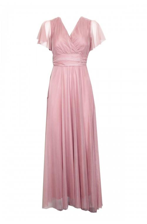 φόρεμα αέρινο μακρύ με τούλι