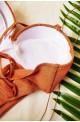 μαγιό μπικίνι lurex gliter ψηλόμεσο για μεγάλο στήθος