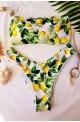 floral μαγιό μπικίνι στράπλες λεμόνια