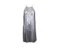 μίνι φορέματα μεταλλιζέ ασημί