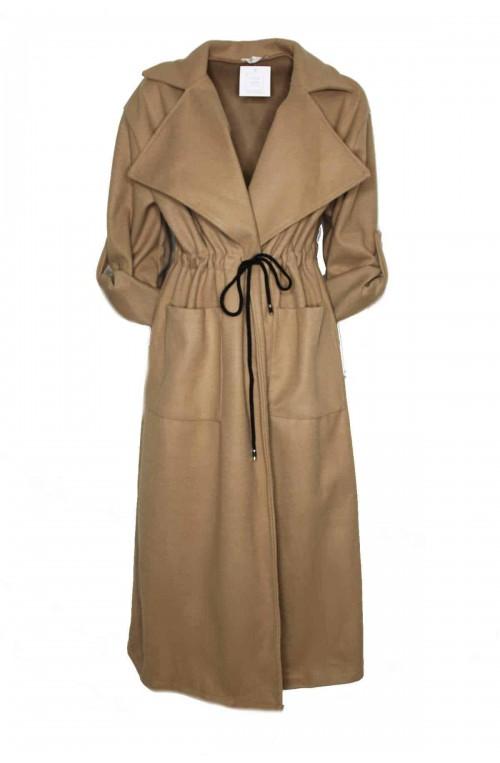 παλτό μακρύ με μεγάλο γιακά