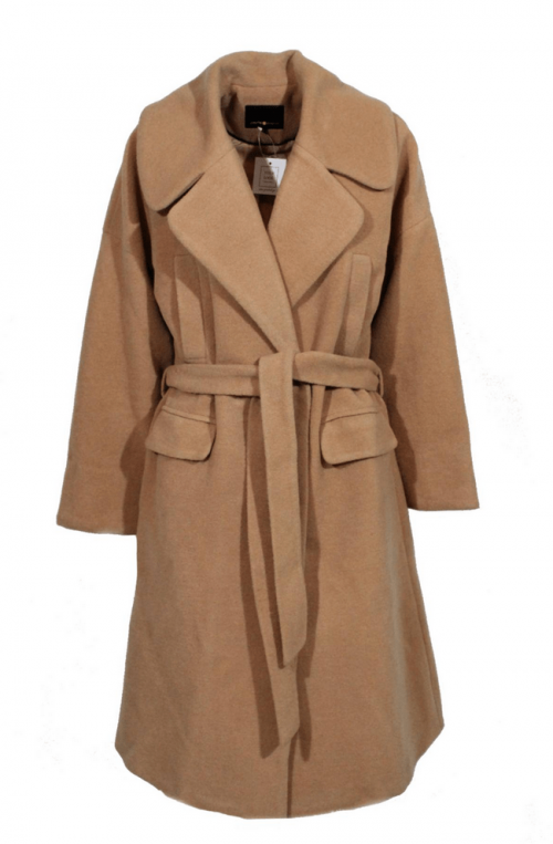 μάλλινο παλτό γυναικείο μακρύ Oversized με ζώνη (manilo)