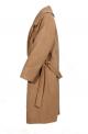 Μοντέρνο γυναικείο παλτό μάλλινο μακρύ Oversized με ζώνη