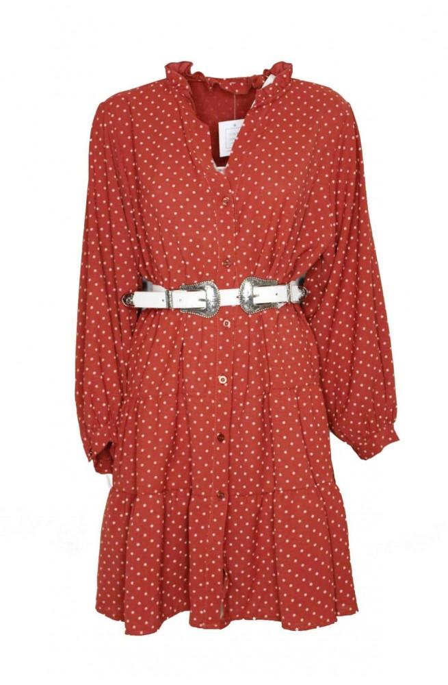 τουνίκ φόρεμα πουκάμισο φαρδύ πουά