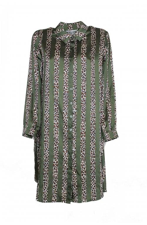 φόρεμα τουνίκ σατέν με print