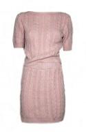 πλεκτό γυναικείο σετ μπλούζα φούστα