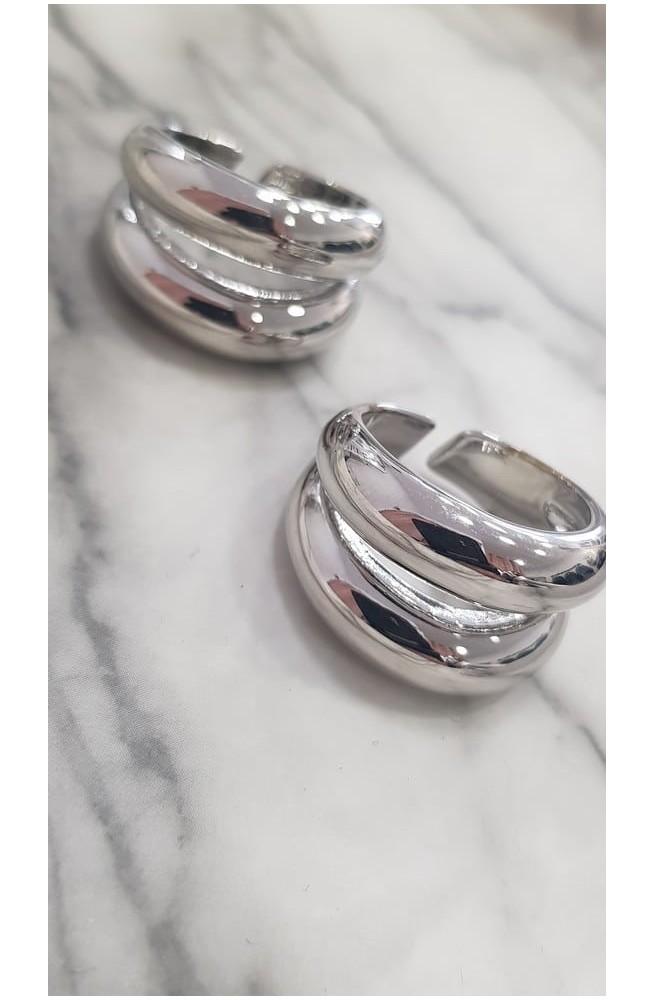 δαχτυλίδι διπλό από ατσάλι