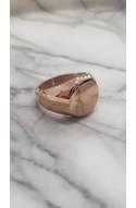 δαχτυλίδι πλακέ από ανοξείδωτο ατσάλι