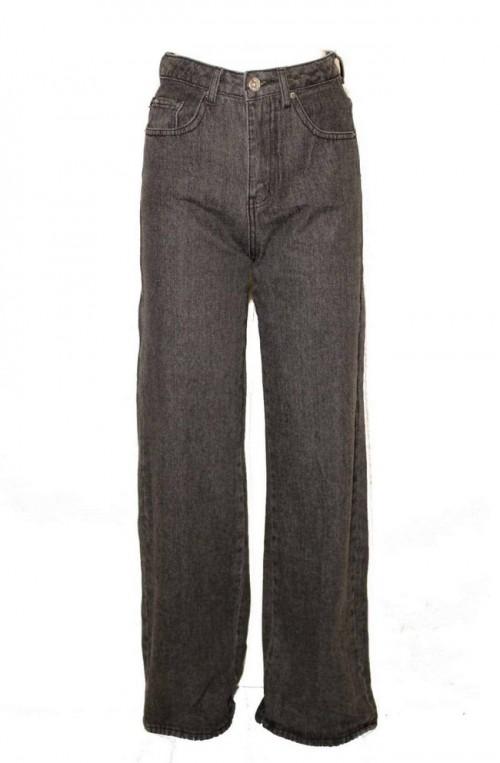 γυναικείο τζιν παντελόνι φαρδιά γραμμή ψηλόμεσο