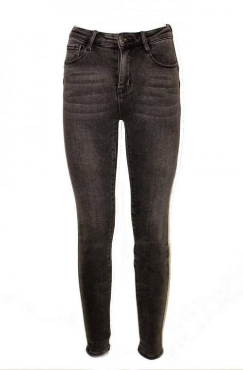 γυναικεία τζιν, skinny jean παντελόνι ψηλομεσο γκρι