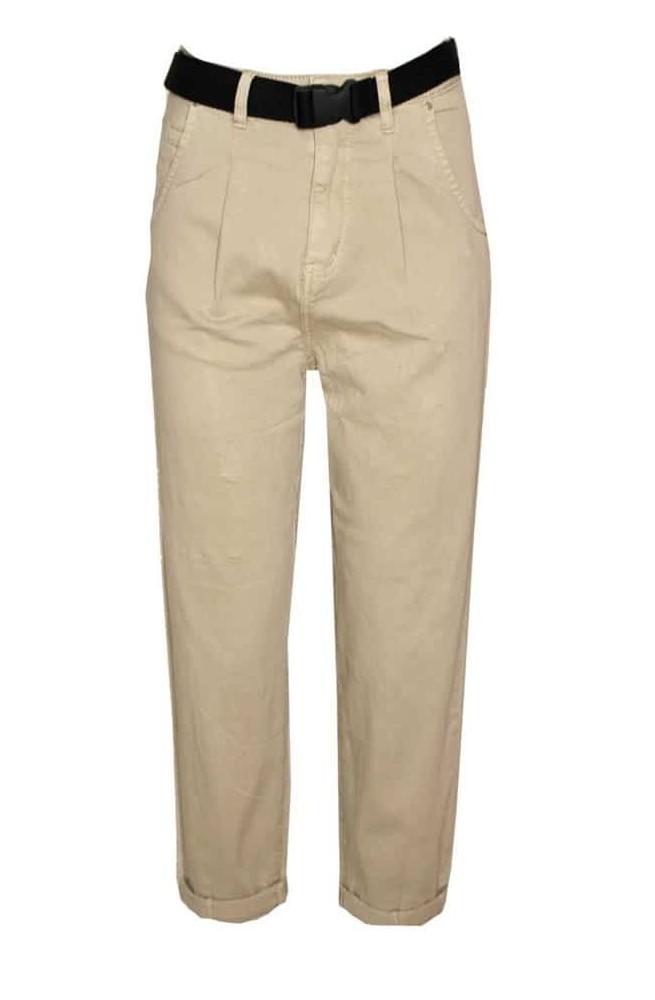 γυναικείο jean παντελόνι σε φαρδιά γραμμή με ζώνη