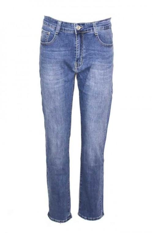 γυναικείο plush size τζιν παντελόνι ψηλόμεσο ίσια γραμμή