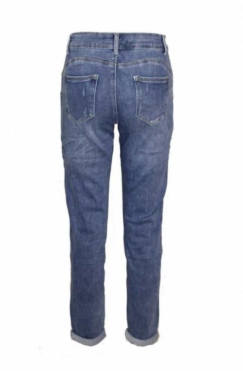 γυναικείο ψηλόμεσο τζιν παντελόνι με σκίσιμο plush size