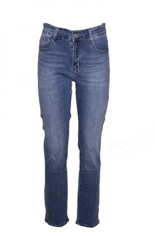 γυναικείο jean παντελόνι plush size ψηλόμεσο