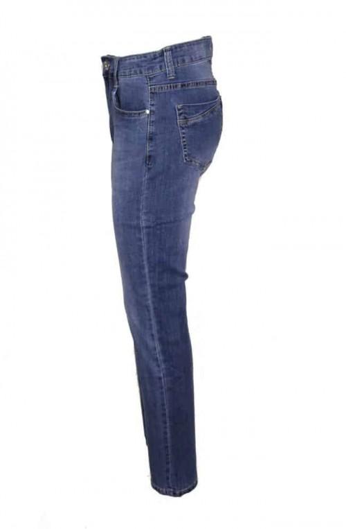 plus size γυναικείο τζιν παντελόνι ελαστικό ψηλόμεσο