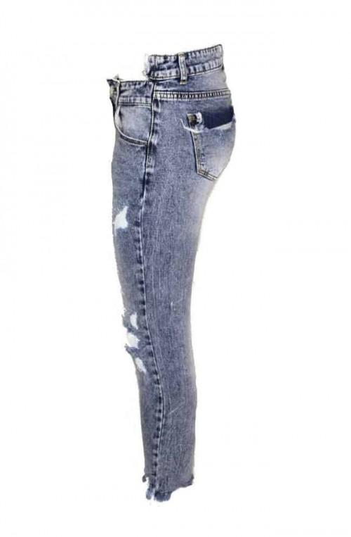 γυναικείο τζιν παντελόνι με σκισίματα