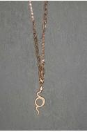 γυναικείο μακρύ κολιέ φίδι ανοξείδωτο ατσάλι