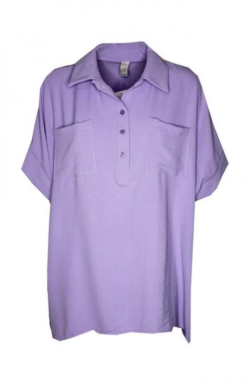 γυναικεία κοντομάνικη πουκαμίσα plush size
