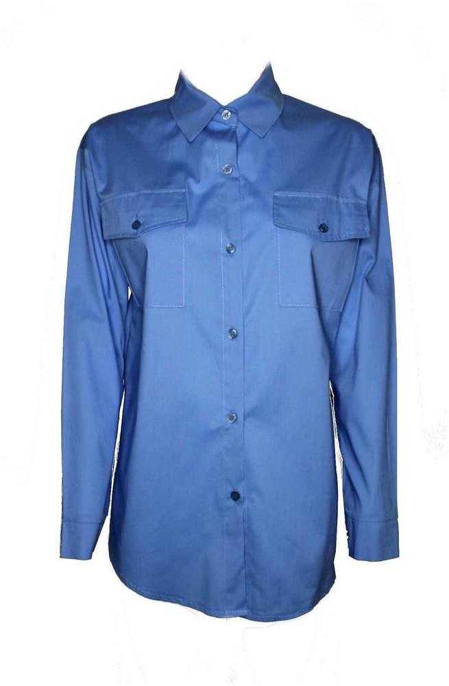 γυναικείο πουκάμισο ασύμμετρο με τσέπες