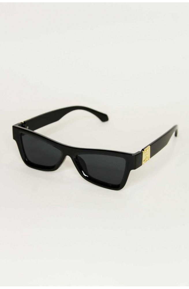 γυναικεία γυαλιά τετράγωνα πεταλούδα με χρυσή λεπτομέρεια